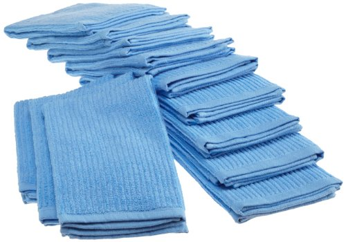 Bardwil Cotton Barmop, Pack of 12 Kitchen Towels, Sky
