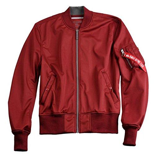 Alpha Ind. Frauen-Jacke MA-1 Soft Shell Wmn – burgundy günstig bestellen
