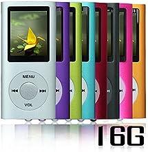 Btopllc Argent NOUVEAU Lecteur MP4/MP3-avec 16GB 16Go de carte Micro SD-1,81 Pouces TFT ecran lecteur audio, Audio Player, Media Player, Voice Recorder