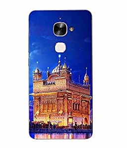Make My Print Golden Temple Printed Blue Soft Back Cover For LETV LE ECO Le 2