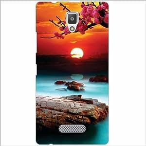 Lenevo A2010 Back Cover - Silicon Sun Set Designer Cases
