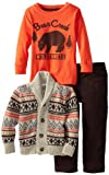 Little Rebels Little Boys' 3 Piece Bears Sweater And Pant Set