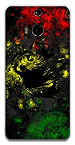 The Racoon Lean Rasta Lion hard plastic printed back case / cover for HTC One (M8)