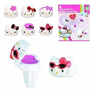 Hello Kitty - 6403 - Bijou et Cosmétique - Bagues Gloss en Blister - 3 Pièces