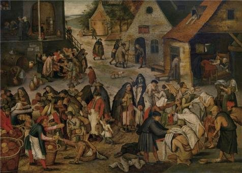 the-perfect-effect-canvas-of-oil-painting-pieter-brueghel-iiworks-of-mercy1564-1636-size-24x34-inch-