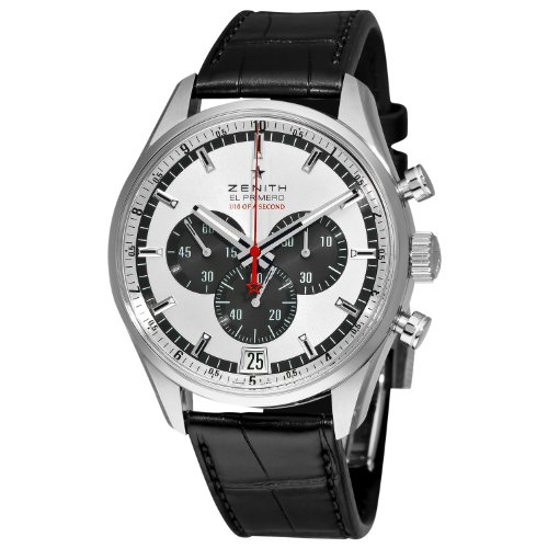 Zenith Men's 03.2043.4052/01.C496 El Primero Striking 10th Chronograph Silver Dial Watch