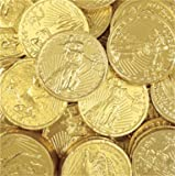 Assorted Liberty Gold Coins Solid Milk Chocolate (1/2 Lb - 8 Oz)