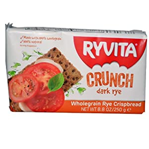 Ryvita Crunch, Wholegrain Rye Crispbread, Dark Rye, 8.8 Ounce Packages (Pack of 10)
