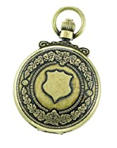 Charles-Hubert, Paris 3867-G Classic Collection Gold-Plated Antiqued Finish Double Hunter Case Mechanical Pocket Watch