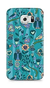 Amez designer printed 3d premium high quality back case cover for Samsung Galaxy S6 (pattern owl greenary)