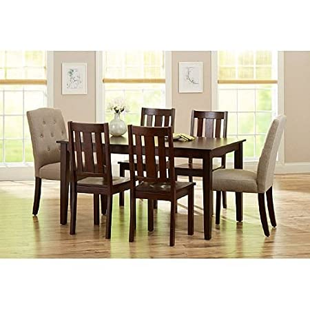 Better Homes and Gardens 6-Piece Dining Set, Mocha/Beige. Modern Dining Room Furniture That's Solid Wood - AMAZING! Dining Room Sets Create A Warm Feeling For Your Visitors. This Dinning Set Will Give You A Lifetime Of Memories.