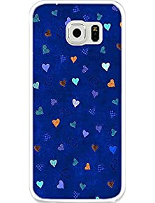 buy Protective Back Fits Cover Case For Samsung Galaxy S6 Cute Blue Pattern
