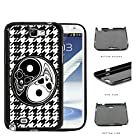 Yin Yang Skulls With Black And White Houndstooth Hard Plastic Snap On Cell Phone Case Samsung Galaxy Note 2 II N7100