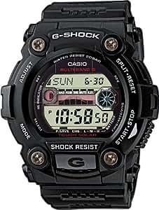 G-Shock GW-7900-1ER Men's Quartz Watch with Grey Dial - Digital Display and Black Resin Strap