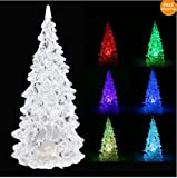 Color Changing Icy Crystal LED Christmas Tree Decoration Night Light Lamp