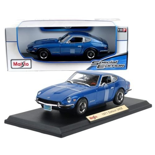 New 1:18 W/B SPECIAL EDITION - BLUE 1971 Datsun 240Z Diecast Model Car By Maisto (Datsun 240z Model Car compare prices)