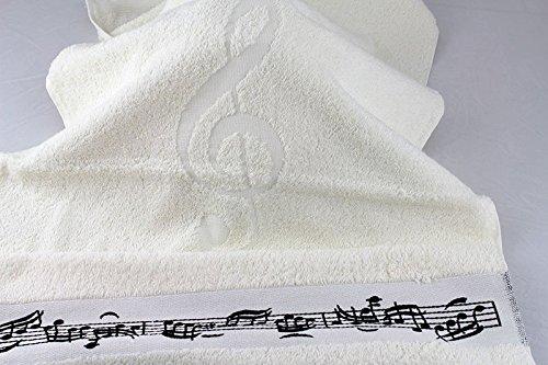 Handtuch-Notenmotiv