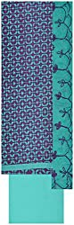 Laxmi Creations Women's Cotton Unstitched Dress Material (Purple)
