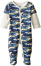 Calvin Klein Baby-Boys Newborn Camo Print Sleeper, Multi, 6-9 Months