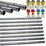 Set of 8 Hollow Foosball Rods for Foosball Table
