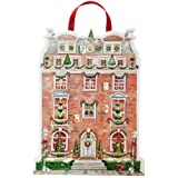 Caspari Entertaining with Caspari Christmas Flat Advent Calendar, Holiday Townhouseby Caspari