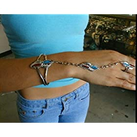 Slave Bracelet with Double Hearts Made In USA