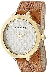 Stuhrling Original Women's 658.02 Vogue Beige Wrap Around Leather Strap Watch