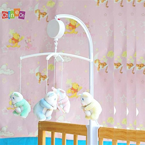 ULAKY Great Gift Novelty Baby Kids Crib Mobile Bed Bell Toy Holder Wind-up Music Box (Bell Mobile compare prices)