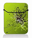 Green Swirls 14'' 14.1'' 14.4'' Laptop Flip Sleeve Case Notebook Bag Cover Pouch For Sony VAIO/CW/CS / 14