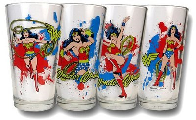 Wonder Woman Glass Drink Set