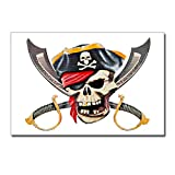 Postcards (8 Pack) Pirate Skull Eyepatch Gold Tooth