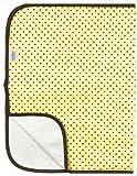 Kushies Deluxe franela Cambio Pad, Amarillo con puntos de Brown Color: Amarillo con puntos (Baby/Babe/Infant-Little Ones), color marrón