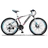 KINGTTU GTR 自転車 マウンテンバイク MTB 27.5インチマウンテンバイク アルミフレーム シマノ21段変速 ディスクブレ-キ (白いとコバルト) [並行輸入品]