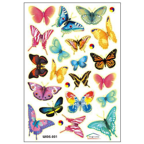 Vibrant Butterflies Nursery/Kids' Room Wall Sticker Decals (Glow in the dark)