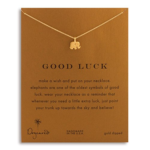 Lucky Small Elephant Pendant Necklace Gold Dipped, Lucky Symbol