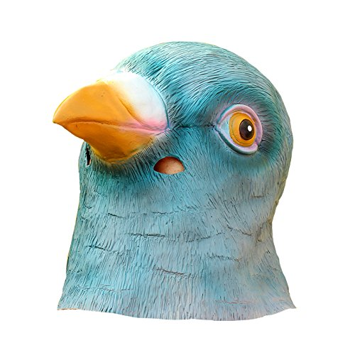 O'plaza® Animal Mask-Blue Bird Head Mask Funny Party Game Mask