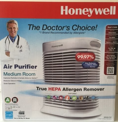 Honeywell HPA105-TGT True HEPA Air Purifier Microscopic Allergens Medium Room (Air Purifier Honeywell Hpa 300 compare prices)