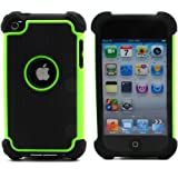 BZ Gadget Shock Proof Case Cover for Apple iPod Touch 4G 4th Generation (Green) + BZ Gadget Cleaning Cloth