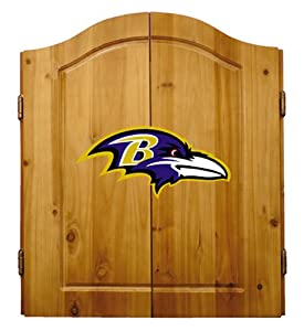 Buy NFL Baltimore Ravens Solid Pine Cabinet And Bristle Dartboard Set by Imperial