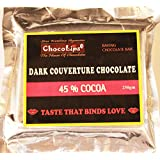 Baking Chocolate Bar- Dark Couverture Chocolate- 45% Cocoa