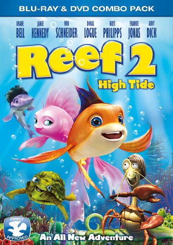Reef 2: High Tide BD Combo [Blu-ray] (Directed by Mark A. Z. Dippe) - If it weren t for the sharks, the reef would be a tropical paradise underwater. In this second adventure, Pi and Cordelia are now parents of their new son Junior. And Pi s shark enemy, Troy, is again on the loose, on the hunt with his shark gang, and just waiting for high tide. Pi decides to trains his family and reef buddies in the art of water fu to have them all prepared for the underwater battle. When a mysterious new reef fish, Ronny, begins to distract the reef creatures with new ideas to protect the reef. However, the reef does not know that Ronny is Troy s spy sent to be a distraction and a spy. Things are at an all time low when Troy captures Cordelia! Now Pi and his son Junior have much to do to not only save Cordelia, but to also save the reef and its motley school of fish and friends!