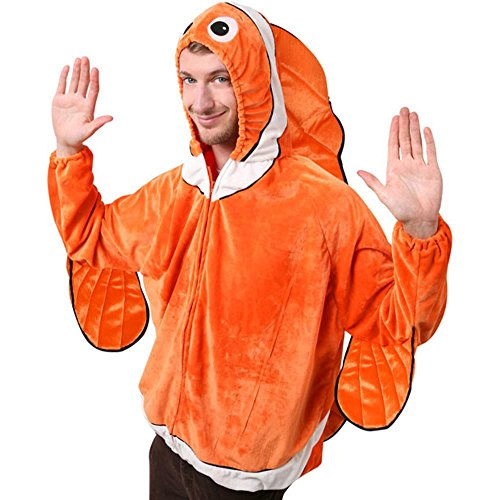 Adult's Clown Fish Halloween Costume (Size: Standard 44)