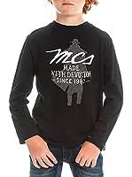 M C S Camiseta Manga Larga Jersey Slub (Negro)