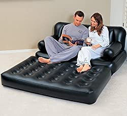 5 in 1 Sofa Cum Bed Leather Look Air Lounge