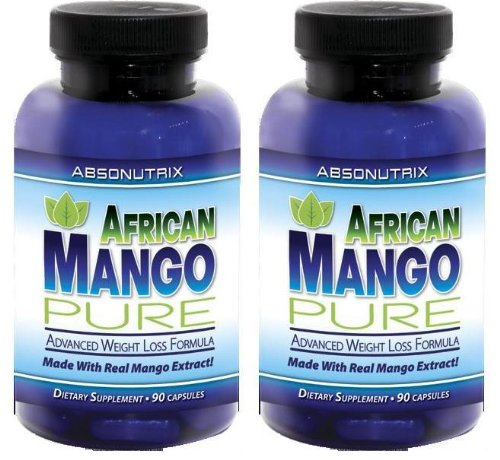 2 Bottles - Absonutrix African Mango Pure - 90 Slimming Capsules - The Most Effective Weight Loss Formula Available Today!