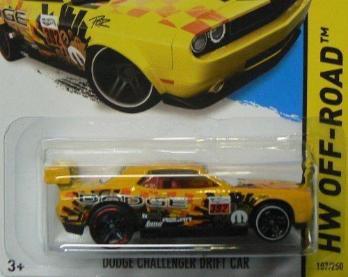 dodge-challenger-drift-car-14-hot-wheels-107-250-yellow-vehicle-by-hot-wheels