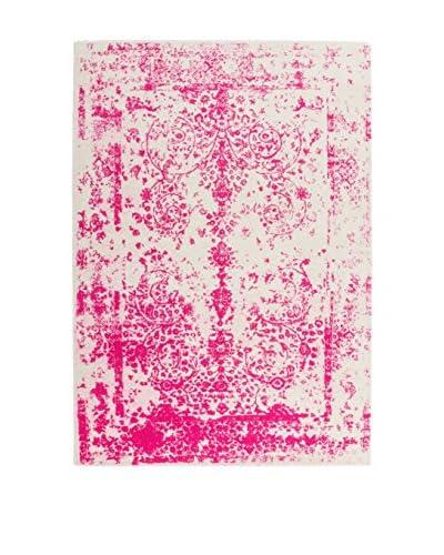 Teppich Aztec 494 weiß/pink