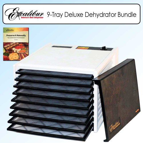 Excalibur Dehydrators 3900W 9 Tray Deluxe Heavy Duty Family Size Food Dehydrator Bundle front-237663