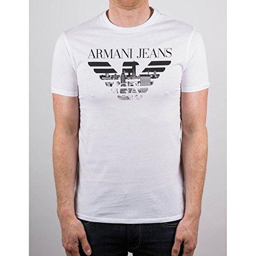 Maglietta Maniche Corte Armani Jeans c6h71FF10 bianco XL