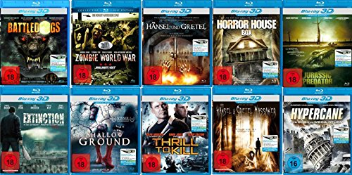 10er Real 3D Blu-ray Paket [10 3D Blu-rays] [10 DVDs]